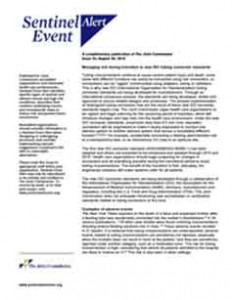 The Joint Commission Sentinel Event Alert 53