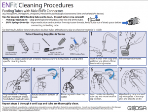 ENFit Cleaning Procedures